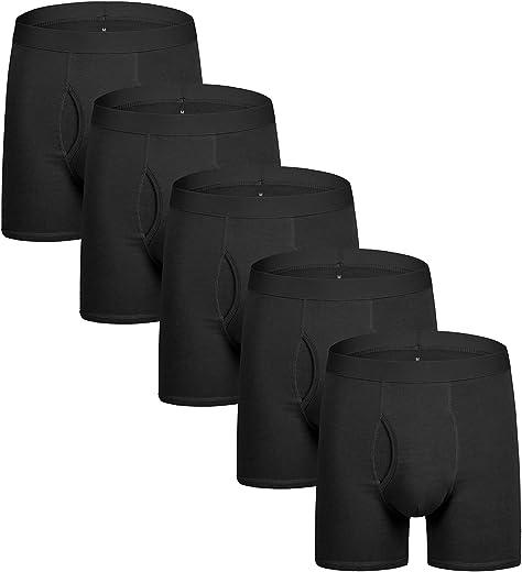 سروال داخلي بوكسر من ناتشرال فيلينغز للرجال مصنوع من القطن وجيد التهوية