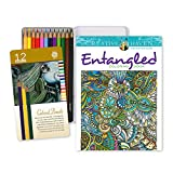 Arts & Crafts : Coloring Pages and Pencils Bundle for Adults from STAK is Stress Relief Escape Therapy that Creates a Perfect Balance of Calm Relaxation and Fun. Get this Therapeutic Coloring Book Value Pack 1 Now!