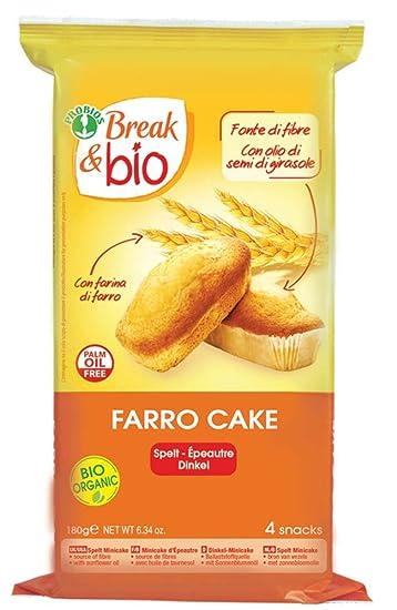 Amazon.com: Brea & Bio Farro Pastel Natural orgánico 4 x 45g ...