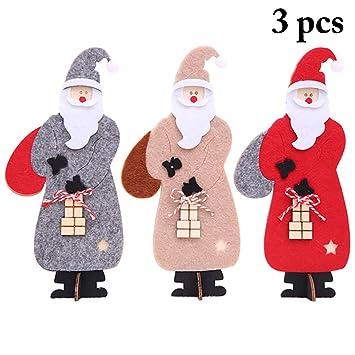 Joyibay 3PCS Adorno de Mesa de Navidad Fieltro de Navidad ...
