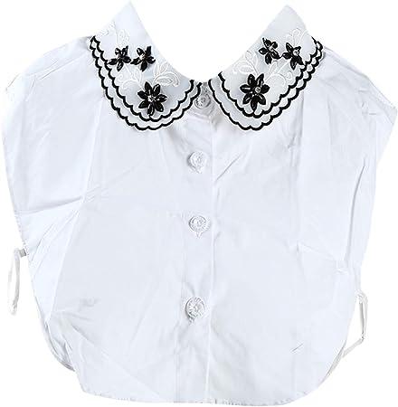 Bigsweety - Collar de Perlas de imitación para Media Camisa con Cuello Desmontable de Cristal, Estilo Casual, Decorativo, Vintage, Collares Falsos: Amazon.es: Hogar