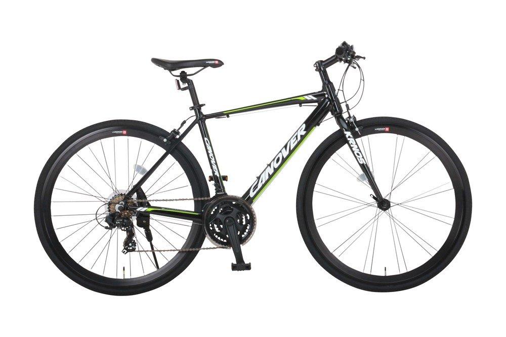 CANOVER(カノーバー) クロスバイク 700C アルミフレーム シマノ21段変速 CAC-027-DC (ATENA) 適応身長:160cm以上 LEDライト 1年保証 B07DWM4FKT マットブラック マットブラック