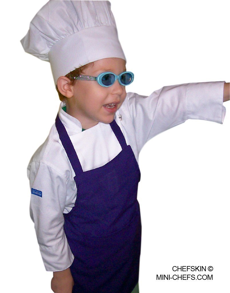 Amazon.com REG CHEFSKIN CHEF SET Kids Children Chef Jacket + Apron +Hat EXCELLENT COSTUME FOR HALLOWEEN CHRISTMAS SCHOOL fits kids 6 - 9 years old ...  sc 1 st  Amazon.com & Amazon.com: REG CHEFSKIN CHEF SET Kids Children Chef Jacket + Apron ...