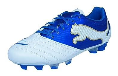 PUMA Powercat 3.12 SG Jr Boys Leather Soccer Boots Cleats-White-5.5 4c96ac08de3