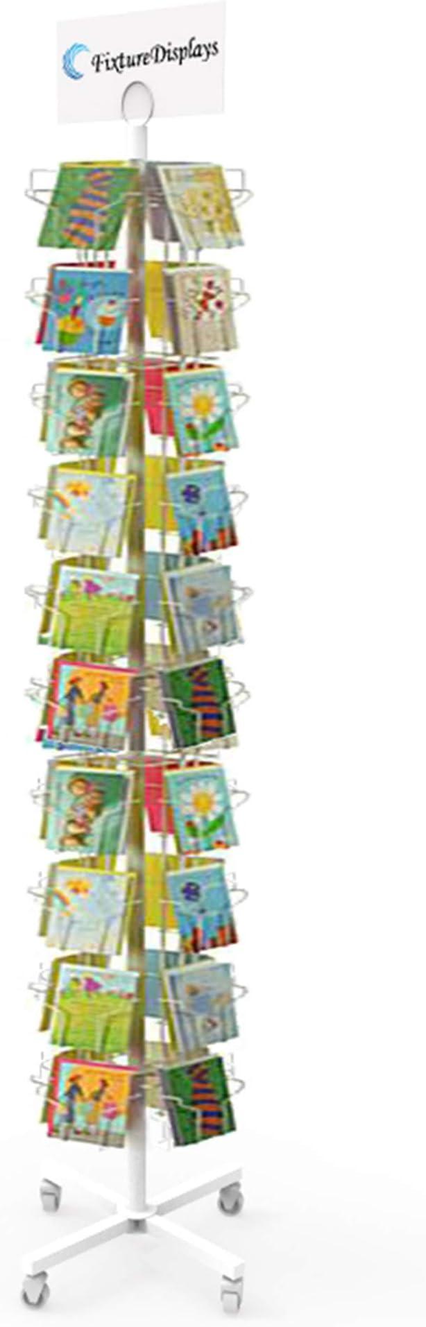 16 Pocket Greeting Card Rack Adjustable Pockets Vertical Horizontal Wire Rack