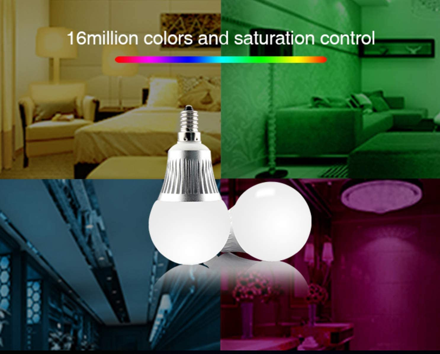 Renewed Mi Light 5W E14 RGB Color Changing WiFi LED Lamp Warm White Dimmable 5W RGBW