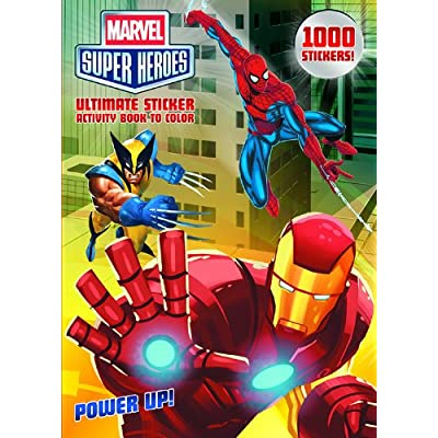 Bendon Publishing Marvel Superheroes Power Up! Ultimate Sticker Activity Book to Color: Dalmatian Press: Toys & Games
