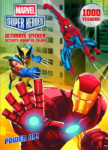 Bendon Publishing Marvel Superheroes Power Up! Ultimate Sticker Activity Book to Color