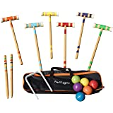 """Play N Laughter 6 Player Croquet Set with Carrying Bag - 26"""""""