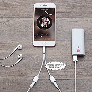 Lightning to 3.5mm Headphone Jack Adapter for Iphone 7/7 plus/8/8 plus/X iphone Adapter Lightning Charge & Audio Splitter Dongle Earphone Aux Music Cable Charger Connector from turelar