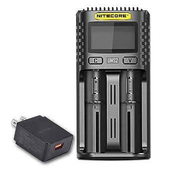 Amazon.com: NITECORE UMS2 Cargador de batería inteligente ...