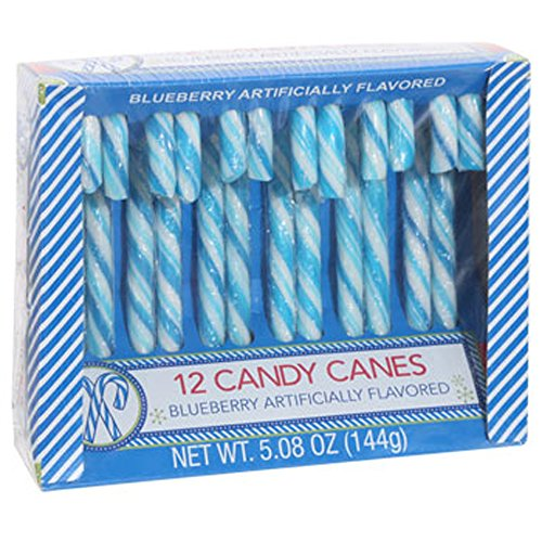 Blueberry Candy Canes - 12 Count