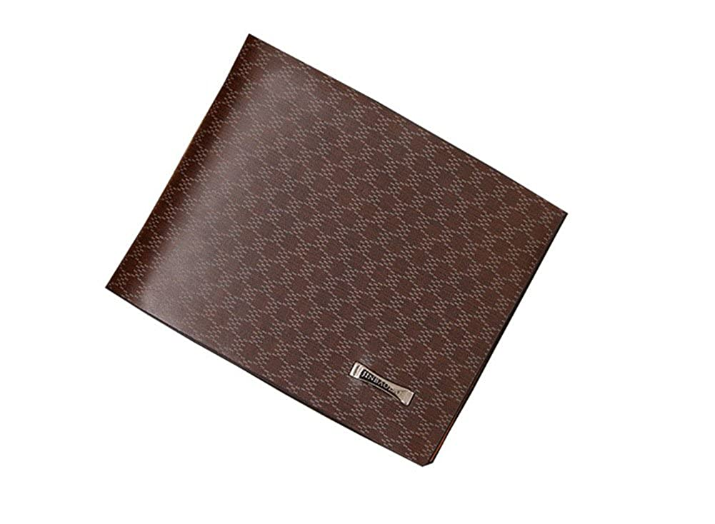 Ducklingup Short Styles of Classics Leather Coffee Brown Men's WALLET The Annual Sale