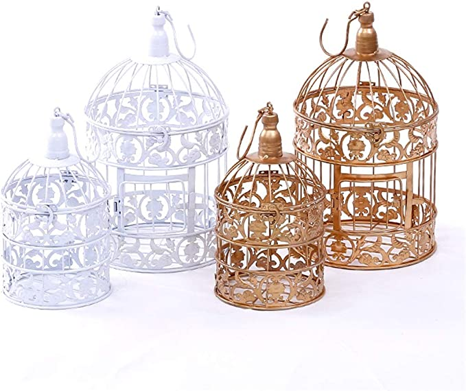 DANJIA Estante Ventana Decorativo de la Boda Jaula de pájaros de la Jaula de pájaros decoración de la Boda Fotografía de la Jaula de pájaros Prop la Jaula de pájaros de la Torta