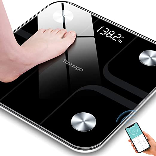 Smart BMI Scale Digital Bathroom Wireless Weight Scale 396 lbs Body Composition Analyzer with Smartphone App Body Fat Monitors RENPHO Bluetooth Body Fat Scale