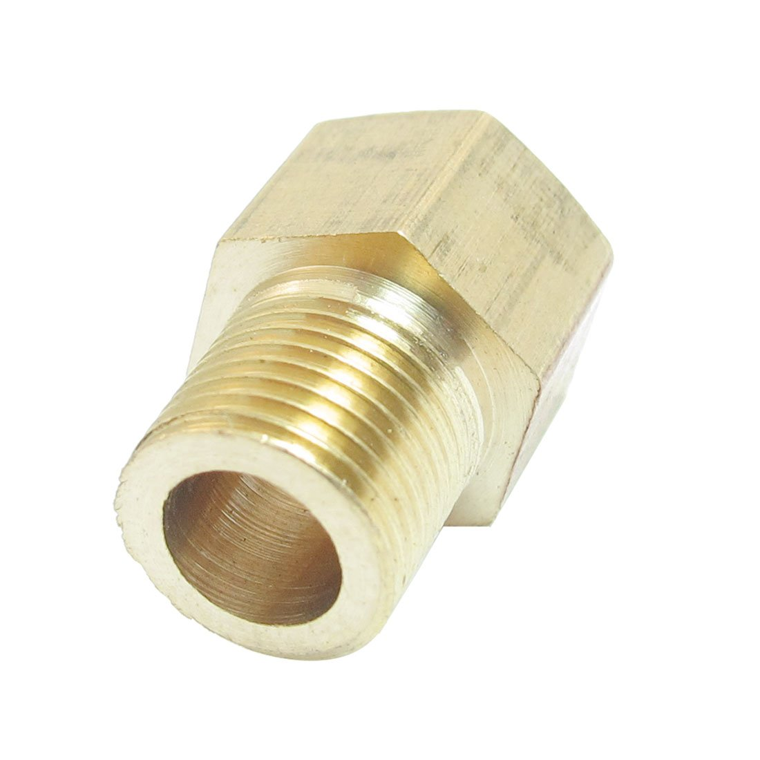 uxcell 1//8 inches PT x 1//8 inches NPT Thread Brass Straight Hex Nipples Pipe Reducer Connector