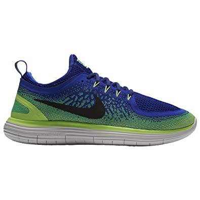 2c415afe4af725 Nike Herren Free Rn Distance 2 Laufschuhe Blau  (Bleusouverain vertelectro Noir) 41