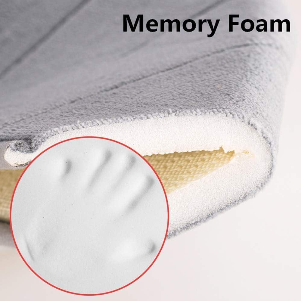 Microfibre dark grey 40 x 60 cm LiGG Memory Foam Bathroom Rug Non-Slip Bath Mat Absorbent Bath Mats Shower Mats