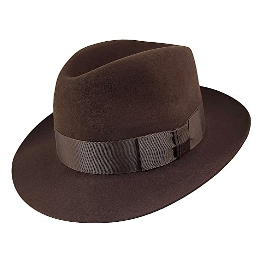 b7f5326a783 Christys Hats Knightsbridge Fur Felt Trilby - Brown  Amazon.co.uk  Clothing