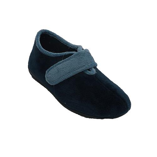 Zapatilla Mujer Tipo Bota con Velcro Calzamur en Azul Marino: Amazon.es: Zapatos y complementos