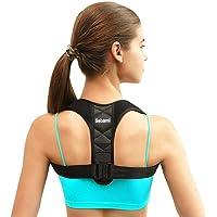 Corrector de postura - Alivia el Jorobado, el Dolor en el Hombro, el Dolor Lumbar Cómodo Dispositivo de Soporte Para Clavícula de la Parte Superior de la Espalda Corrección de la Postura de Espalda para Mujeres, Hombres y Adolescentes