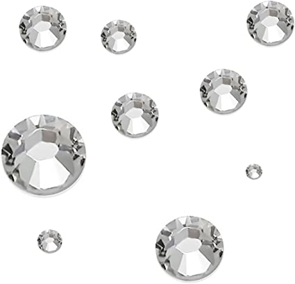 Flat Back Gems Round Crystal Rhinestones Crystal Bead Rhinestone Sewing Buttons 13x22mm Decoration Accessory White 200 PcsCrystal Gems