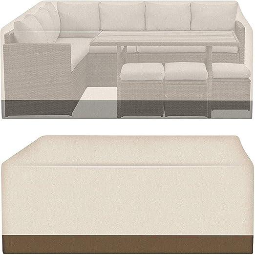 ZZX Funda/Cover/Protectora para Sofá, 210D Impermeable Transpirable de Tela Oxford Muebles de jardín Cubierta para Exterior Muebles de Jardín, Terraza, Patio, 235 * 180 * 71cm: Amazon.es: Hogar