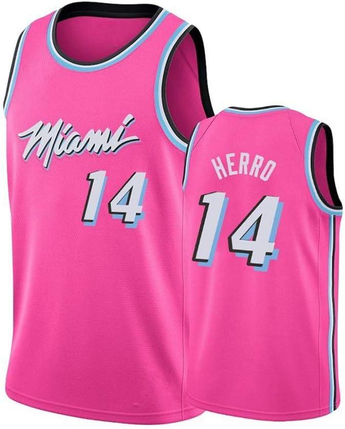 Transpirable Fresca Fans Top Deportivo(S-XXL) G/&F Tyler Herro Camiseta De Baloncesto Miami Heat # 14 Sin Mangas Unisex Size : S