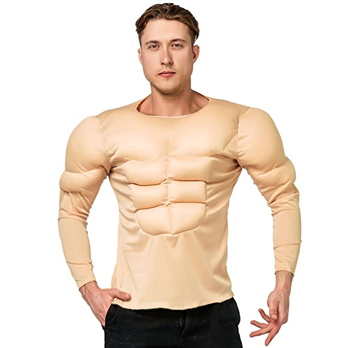 Amazon.com: Upload adulto Camisa muscular hombre disfraces ...