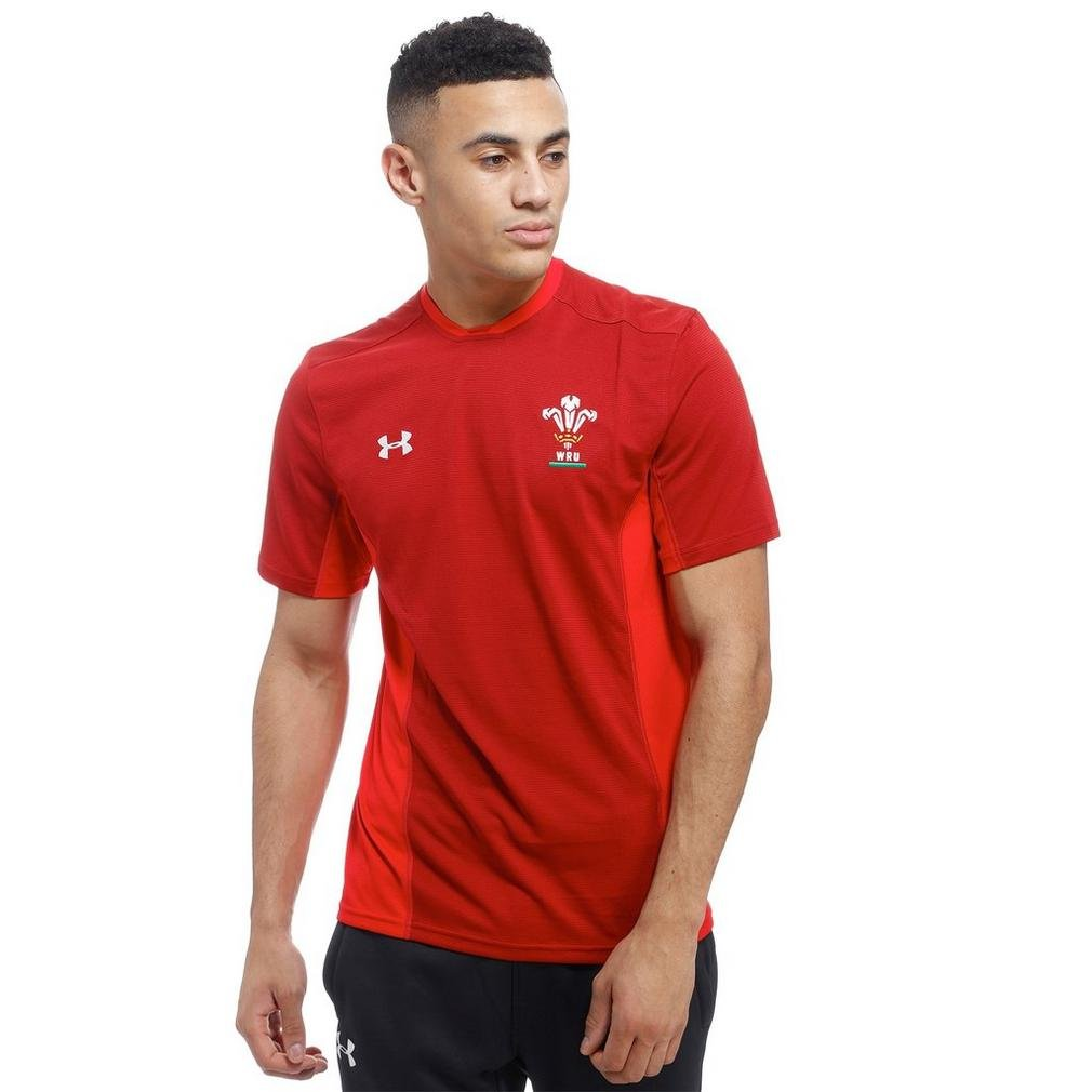 2018-2019 Wales Rugby WRU Training Tee (Red) B076MYM31R Large 42-44