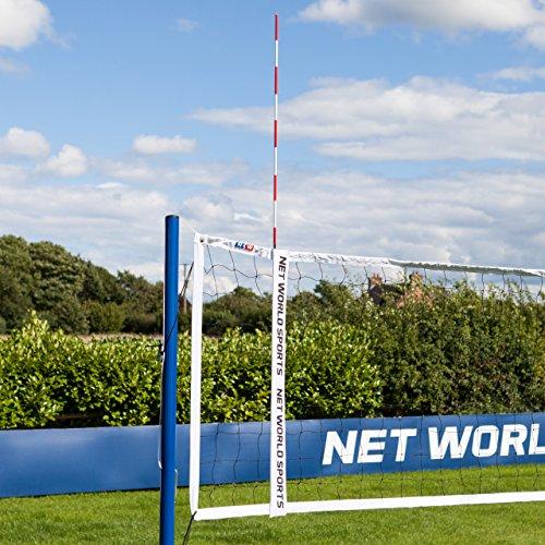 Vermont Volleyball Net Antennas   Pair of Volleyball Net Antennas   Red & White   Volleyball Sheath Included - [Net World Sports] (Volleyball Net Antenna)