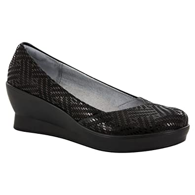 Alegria Women's FLI Black Dazzler Wedge 6.5 Regular