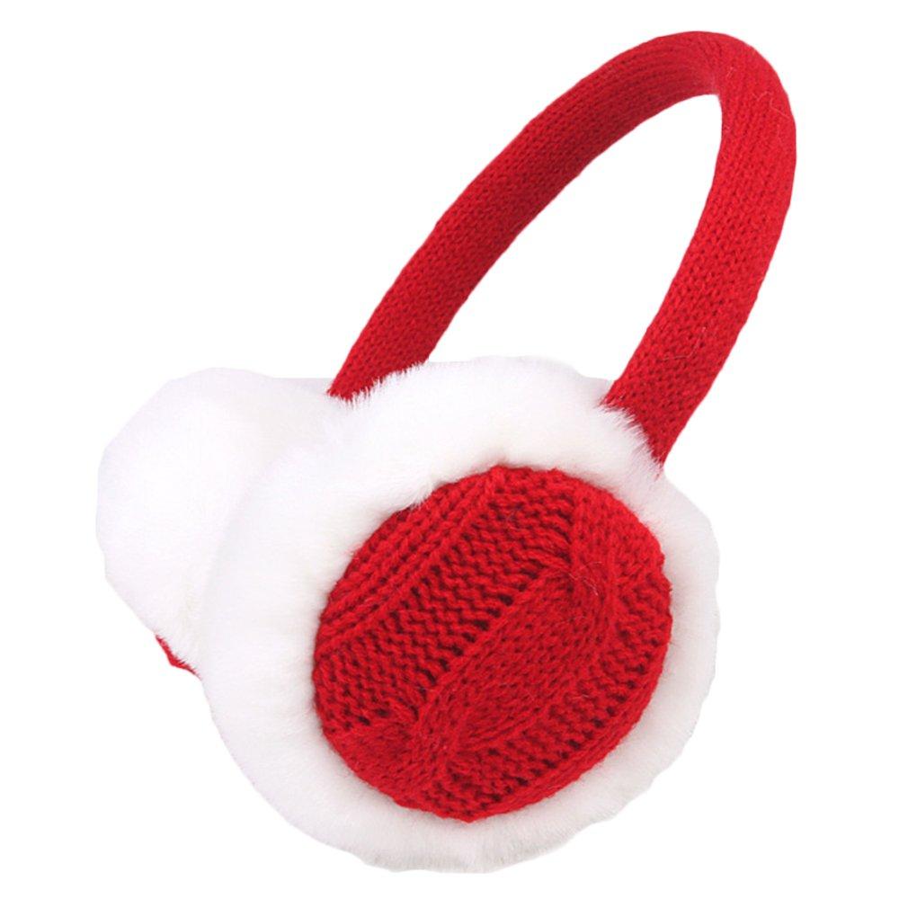 Bodhi2000® Womens Knit EarMuffs Faux Fur Plush Earwarmer Winter Outdoor Ear Muffs 1150249TPTQX5421