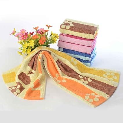 Kongnijiwa - Toallas de Cara de Algodón Puro con Estampado Floral con Toallas de Alta Absorción