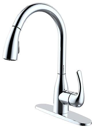 Aquatrend High Standard Kitchen Faucet For Sink Goose Neck Pull