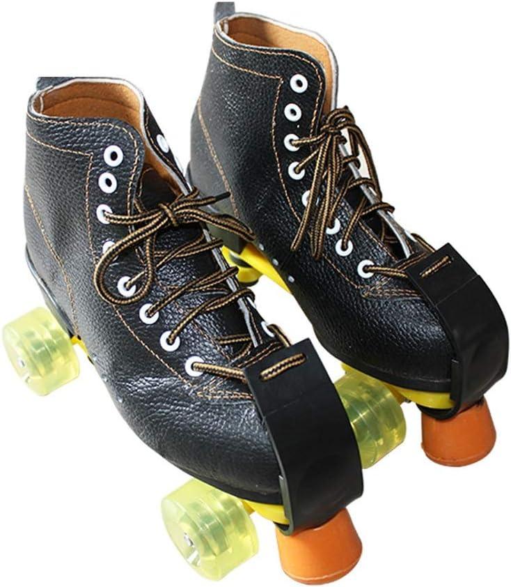 男性と女性のためのインラインスケート 複列スケート、 古典的なハイトップ四輪ローラースケート 大人の子供のための屋内外のスケート靴 ホイールフルフラッシュブラック 耐摩耗性と通気性 (Color : A, Size : 36)
