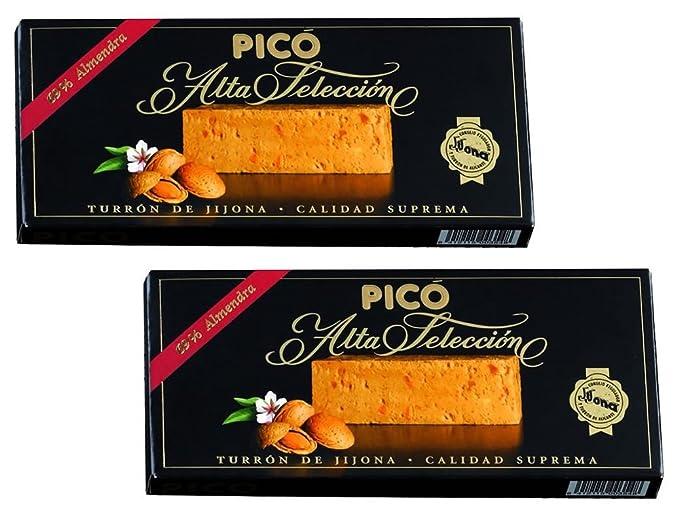 Picó - Pack incluye 2 Turron de Jijona - Turron blando caja negra - Calidad superior