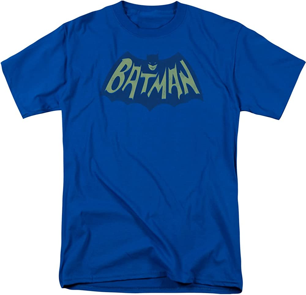 Flames Logo Adult Work Shirt Batman