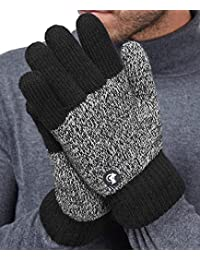 Thick Fleece Winter Gloves Mens Mix Knit for Cold Weather