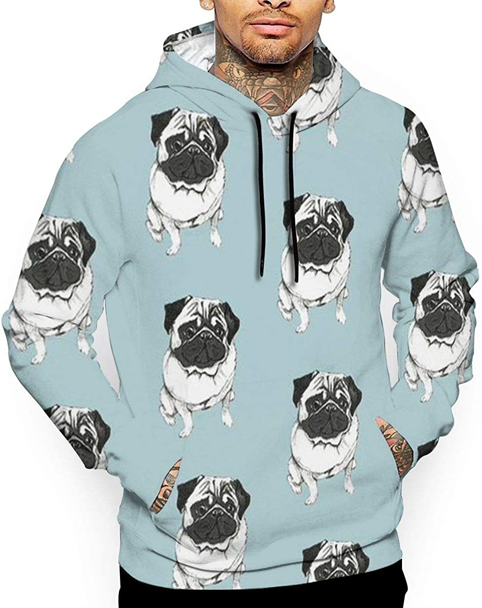 French Bulldog T-Shirt Hooded with A Pocket Rope Hat Customization Fashion Novelty 3D Mens