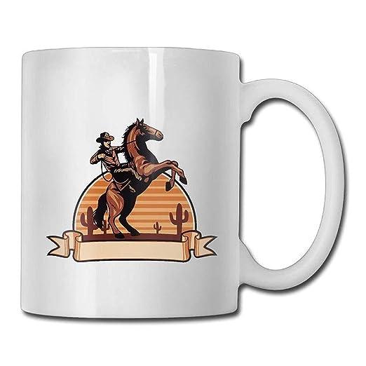 Taza especial de café/té Cowboy Rider. Regalo de cumpleaños ...