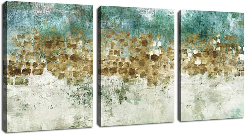 arteWOODS Canvas Art Abstract Painting Contemporary Wall Art Decor Large Pale Blue Abstract Lake Water Picture Prints Modern Artwork for Home Decoration 30 x 60