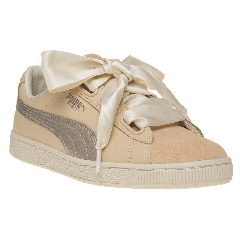 innovative design 70386 a5c5e PUMA Basket Heart Up Womens Sneakers Natural: Amazon.com.au ...