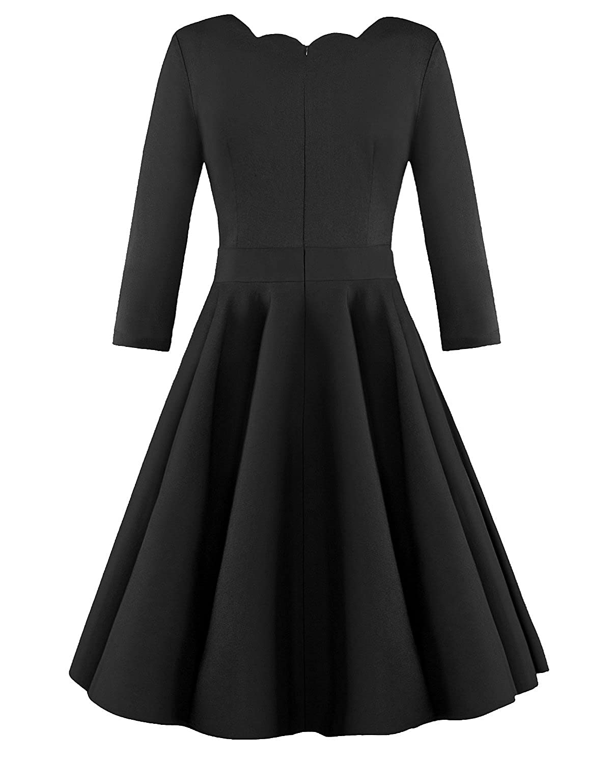 OUGES Womens 1950s Scalloped Neck Vintage Cocktail Dress at Amazon Women's  Clothing store: