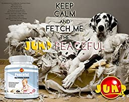 Dog Calming Aid - Anxiety Relief - Advanced Time Released Dog Calm Treats - Reduces Separation Anxiety, Fireworks Thunderstorm Fears, Travel Sickness, Promotes Relaxation - 60 Chewables