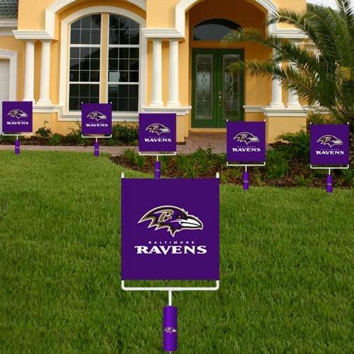 NFL Baltimore Ravens Goal Post One-Sided Flag - Purple]()