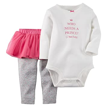 db846b3f3 Amazon.com: Carters Baby Girls 2-Piece Bodysuit & Tutu Pant Set Lil ...