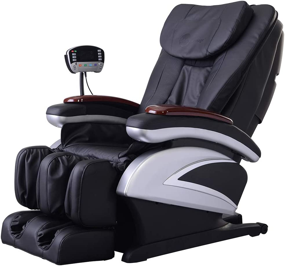 Full Body Electric Shiatsu Massage Chair Recliner with Built-in Heat Therapy Air Massage System Stretch Vibrating for Home Office Living Room PS4