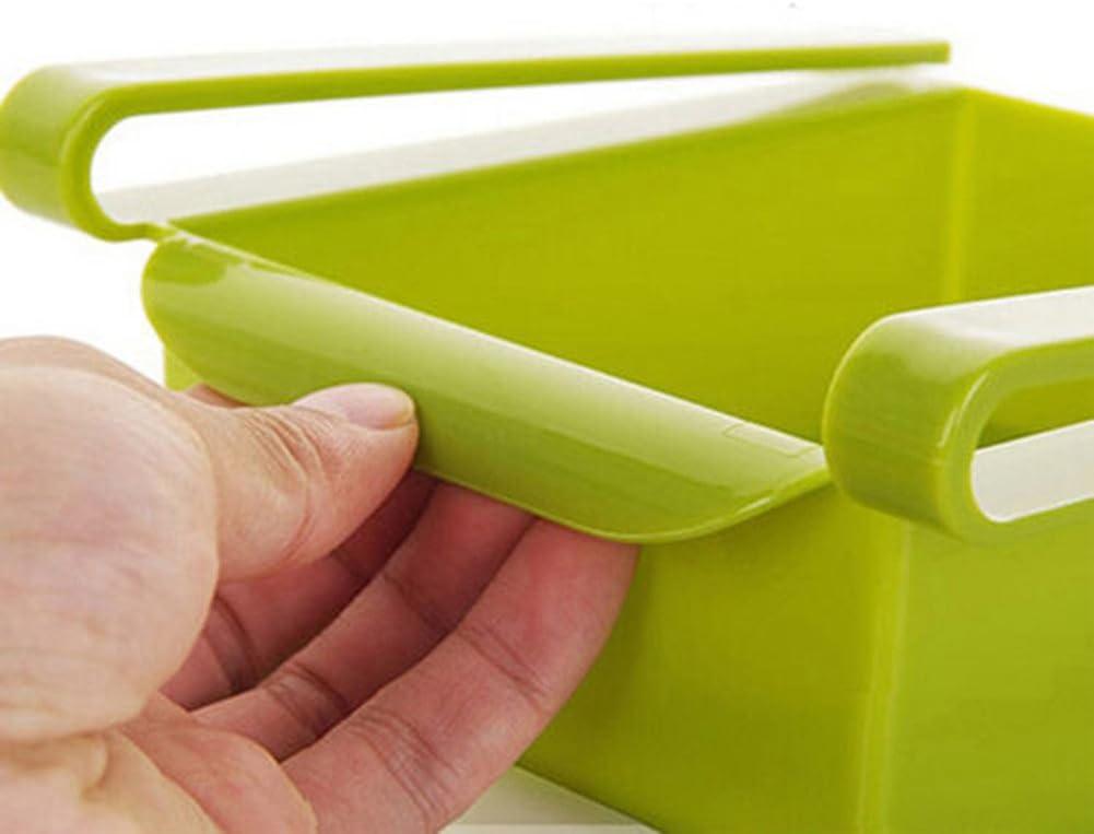 1 estante de pl/ástico para nevera o congelador organizador para ahorrar espacio.