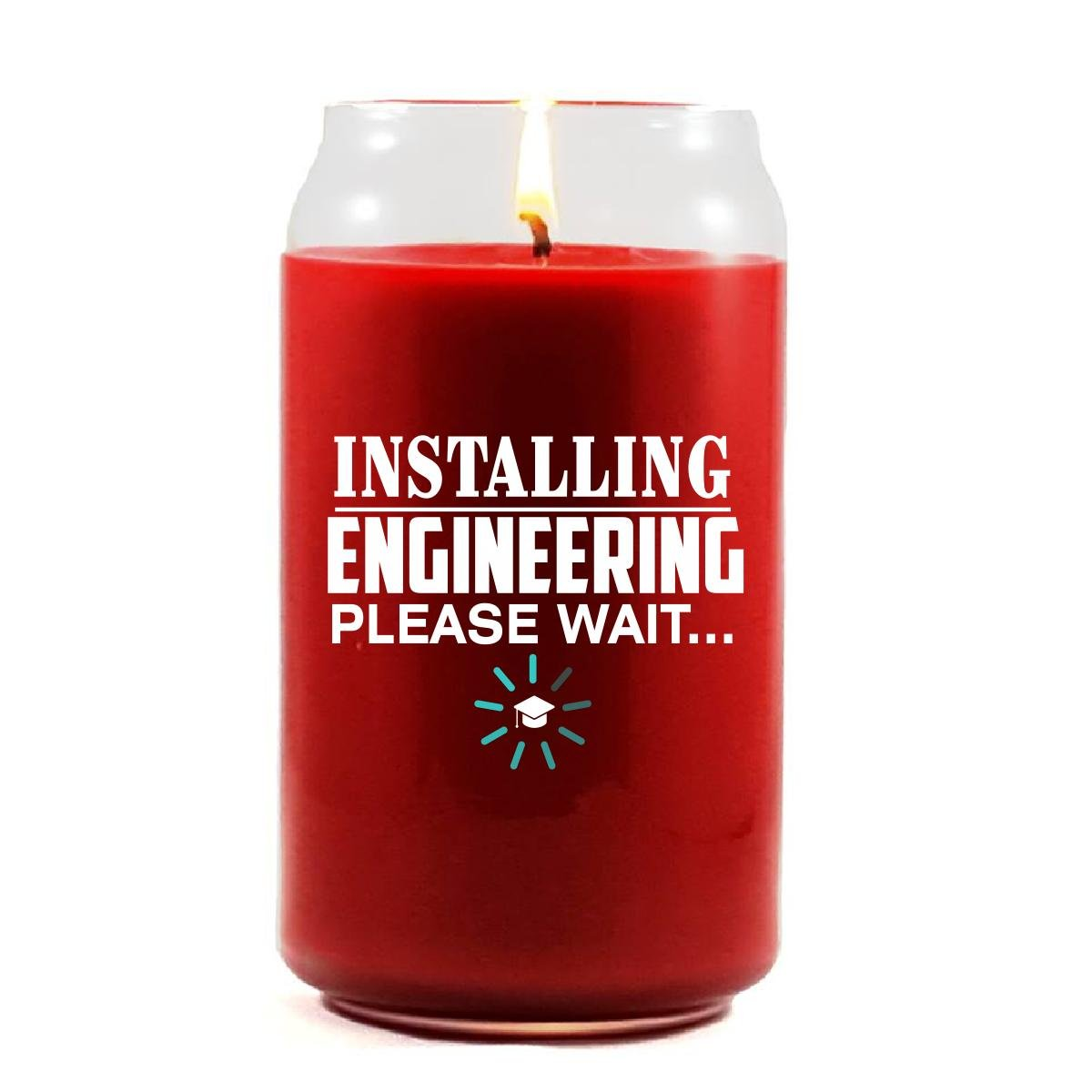 Installing ENGINEERING Please Wait College Degree - Scented Candle by Brands Banned (Image #1)